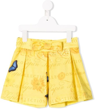 Lapin House Butterfly Print Skirt