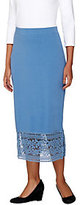 As Is Liz Claiborne New York Midi_Skirt with Lace Hem