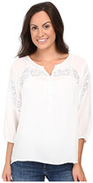 Roper 0503 Rayon Peasant Blouse w/ Lace Trim