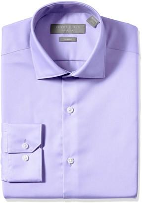 Perry Ellis Men's Slim Fit Performance Comfort Collar Solid Dress Shirt