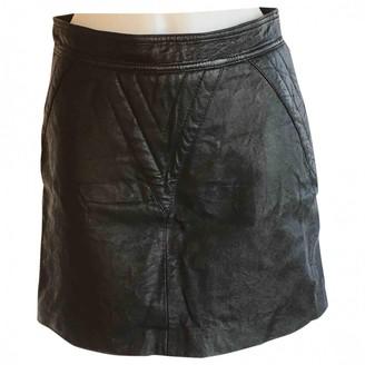 Gestuz Black Leather Skirts