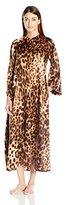 Natori Women's Leopard Zip Caftan