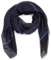 Hickey Freeman Geometric Silk & Wool Scarf