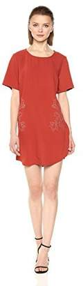 MinkPink Women's Magnolia Embroidered T-Shirt Dress