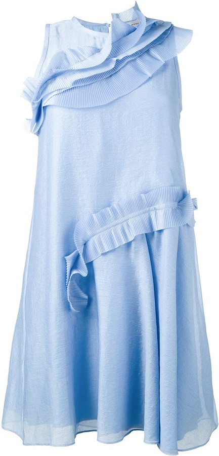 Carven Ruffle Trimmed Dress