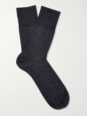 Falke Three-Pack Airport Stretch Wool-Blend Socks