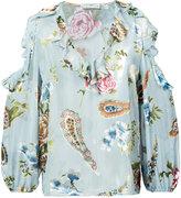 Alice + Olivia Alice+Olivia ruffle floral print blouse