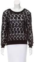 Moschino Cheap & Chic Moschino Cheap and Chic Guipure Lace Long Sleeve Top
