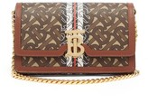 Burberry Carrie Coated-canvas & Leather Cross-body Bag - Womens - Brown Multi
