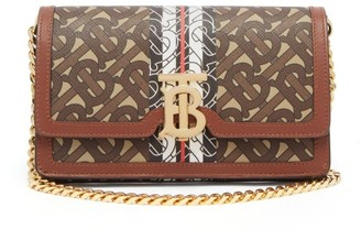 Burberry Carrie Coated-canvas & Leather Cross-body Bag - Brown Multi