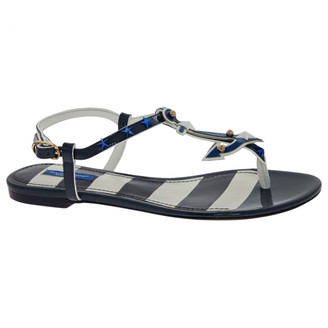 Dolce & Gabbana Blue Leather Sandals