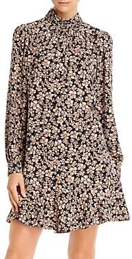 Rebecca Taylor La Vie Giselle Mock Neck Floral Dress