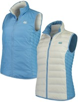 Columbia Unbranded Women's White/Carolina Blue North Carolina Tar Heels Lake 22 Reversible Puffer Vest