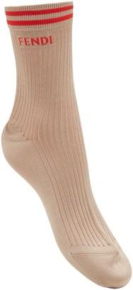 Fendi Logo Detail Socks