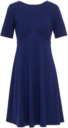 Love Moschino Gathered Cutout Ponte Mini Dress