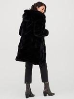 Very Faux Fur Padded Coat - Black