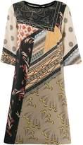 Etro cropped sleeve printed dress