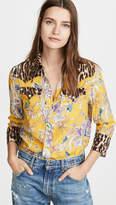 R 13 Exaggerated Collar Cowboy Shirt
