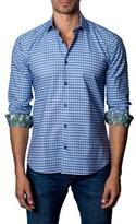 Jared Lang Men's Trim Fit Grid Sport Shirt