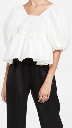 Sister Jane Sash Jacquard Oversized Top