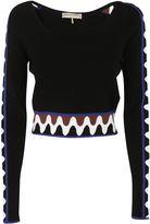 Emilio Pucci Wave Pullover Crop Top