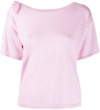 Autumn Cashmere short sleeve knitted top