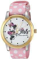 Disney Women's 'Minnie Mouse' Quartz Metal and Nylon Casual Watch