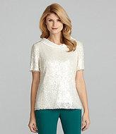 Antonio Melani Deanna Short-Sleeve Sequin Top