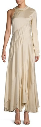 Chloé Silk-Blend Single Long-Sleeve Dress