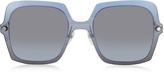 Marc Jacobs MARC 27/S TWEHL Blue Acetate Square Oversized Women's Sunglasses