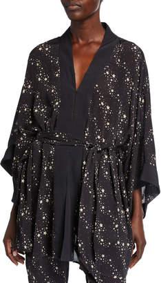 Figue Niko Star-Print Kimono Jacket