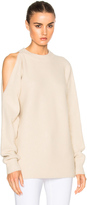 Tibi Cut Out Shoulder Sweater