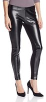 Jessica Simpson Women's Front Panel Faux Pleather Cut and Sew Legging