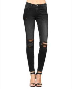 Flying Monkey Mid Rise Distressed Skinny Jeans