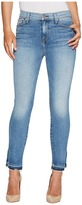 7 For All Mankind The High Waist Ankle Skinny Jeans w/ Side Split Released Hem in Vintage Air Classic Women's Jeans
