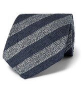 Dunhill - 8cm Striped Mulberry Silk Tie