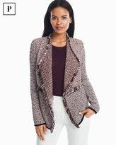 White House Black Market Petite Double Fringe Sweater Jacket