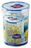 Lock & Lock Round Storage Container, 1.8 L - Clear/Blue