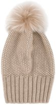 Inverni single fur pom pom beanie - women - Fox Fur/Cashmere - One Size