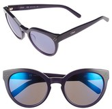 Chloé Women's 'Boxwood' 54Mm Round Sunglasses - Blue
