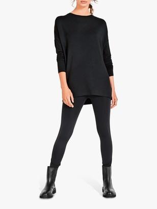 Hush Metallic Side Stripe Leggings, Black/Gold
