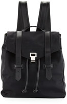 Proenza Schouler PS1 Nylon Backpack w/Leather Trim, Black