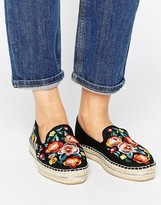 Asos JUNE FLOWER Embroidered Espadrilles