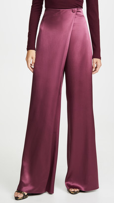 Cushnie High-Waisted Wide Leg Pants