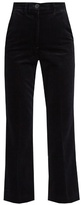 MiH Jeans Coler high-rise cropped velvet flared trousers