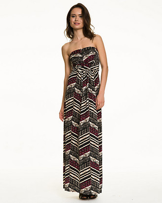 Le Château Bohemian Print Knit Maxi Dress