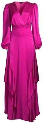 Rosa Cha Luna Silk Ruffle Gown