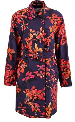 Dries Van Noten Printed trench coat