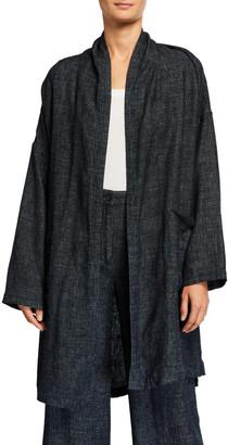 Eileen Fisher Petite Tweedy Long Kimono Jacket