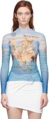 Misbhv Blue Kyoto Mock Neck T-Shirt
